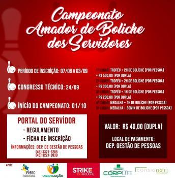 Abertas inscrições ao Campeonato Amador de Boliche do Servidor