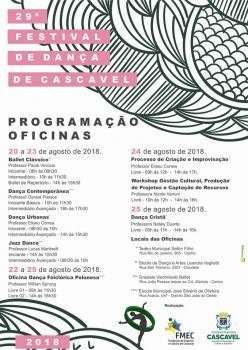 Secesp abre inscrições às oficinas do 29º Festival de Dança de Cascavel